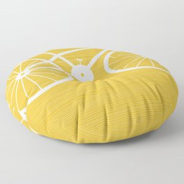 Yellow Bike by Friztin Floor Pillow