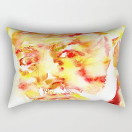 ERNEST HEMINGWAY - watercolor portrait .5 Rectangular Pillow