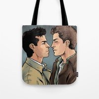 bond Tote Bags featuring Profound Bond by Daunt