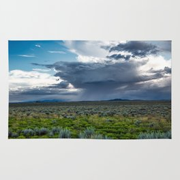 Desert Rain - Summer Thunderstorms Near Taos New Mexico Rug