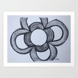 Flor de Barcelona Art Print