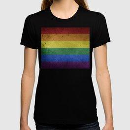 LGBTQ Rainbow Pride Flag (Weathered) T-shirt