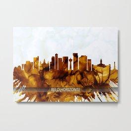 Belo Horizonte Brazil Skyline Metal Print