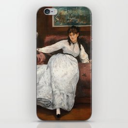 The Rest, portrait of Berthe Morisot by Edouard Manet iPhone Skin