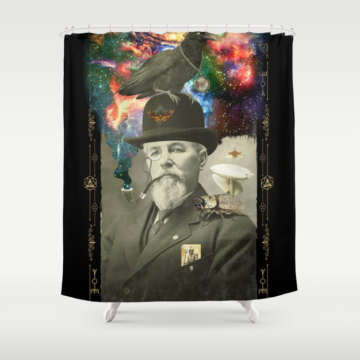 Odd Scientist Shower Curtain By Beerymethod