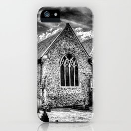 Orsett Church Essex England infrared iPhone Case