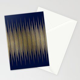 Linear Blue & Gold Stationery Cards