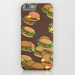 I love Hamburgers - fast food junkie - cheeseburger pattern 1990s iPhone Case