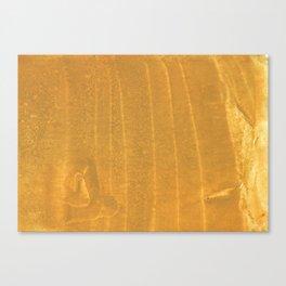 Dark yellow blurred watercolor pattern Canvas Print
