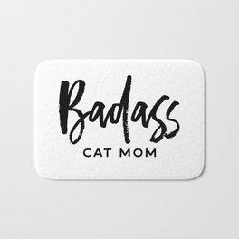 Badass cat mom Bath Mat