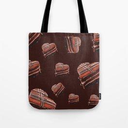 Heart chocolate cake  Tote Bag