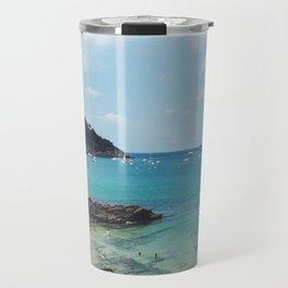 Summer in Donosita San Sebastian Spain Beach Travel Mug