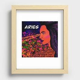 Aries Zodiac Traits Print Recessed Framed Print