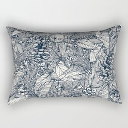 forest floor indigo ivory Rectangular Pillow