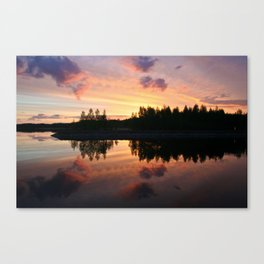 lake in Finland at early night Canvas Print