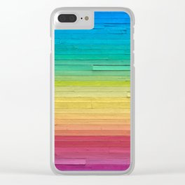 Rainbow Wall Clear iPhone Case