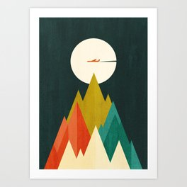 Life is a travel Art Print