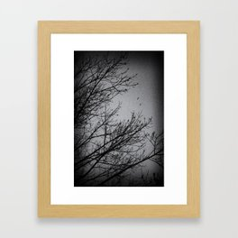 Winter Noir Framed Art Print