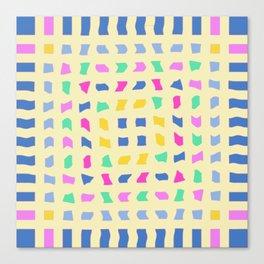 Colorblocks, Light Yellow Canvas Print