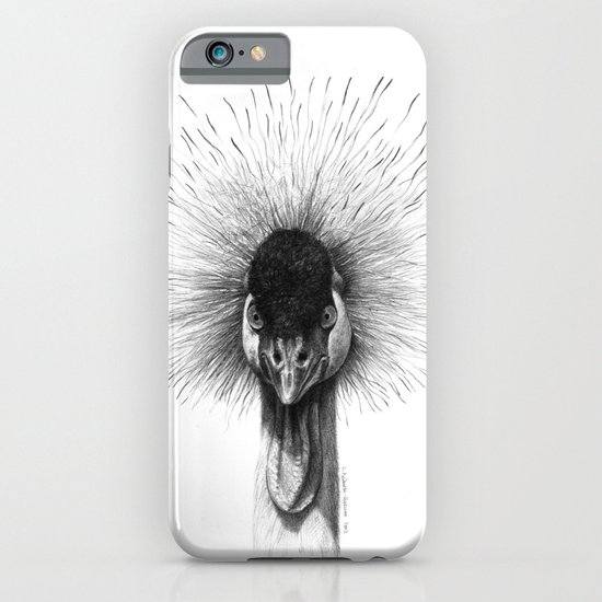 Black Crowned Crane G2012-065 iPhone & iPod Case