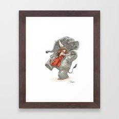 Elephant Hug Framed Art Print