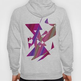 geometrical abstract colored shapes of purple Hoody
