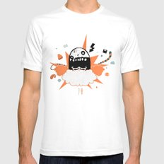 Mr wideo1 Mens Fitted Tee White MEDIUM
