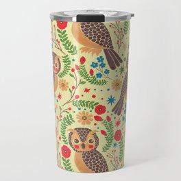 The Vintage Horned Owl Travel Mug
