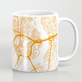 Street MAP Ho Chi Minh // Orange Coffee Mug