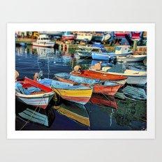 Puerto Mogan Boats Art Print