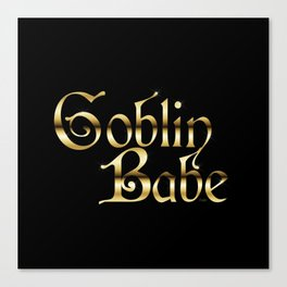 Labyrinth Goblin Babe (black bg) Canvas Print