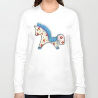 calendar Long Sleeve T-shirts featuring 2014 horse calendar (europe) by Katja Main