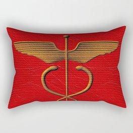 Sacred Caduceus Rectangular Pillow