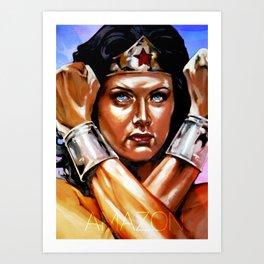 Amazon II - Lynda Carter Art Print