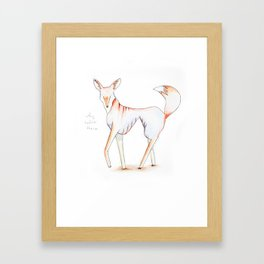 "Le Fox, ""Why Hello There"" Framed Art Print"