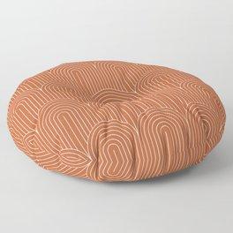 Art Deco Arch Pattern XI Floor Pillow