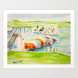 Camp Longhorn - The Blob Art Print
