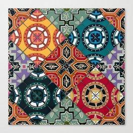 DESEO BOLD spanish tiles Canvas Print