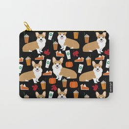 Corgi - Pumpkin Spice, psl, coffee, latte, pumpkin pie,  fall, autumn, holiday, Carry-All Pouch