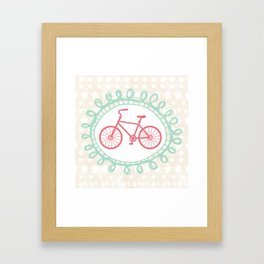 Oui Oui Mon Cheri Pink Bicycle Wall Art Framed Art Print