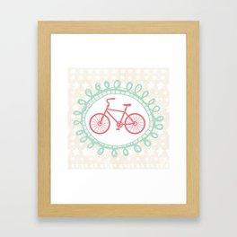 Oui Oui Mon Cheri Pink Bicycle Wall Art Framed Art Print