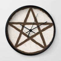 pentagram Wall Clocks featuring Pentagram by Ria-Ra
