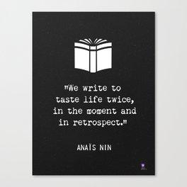 Anais Nin quote Canvas Print