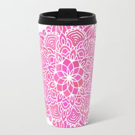 pink mandala pattern Travel Mug