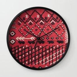 V22 Sheep herd Design Traditional Moroccan Carpet Texture. Wall Clock