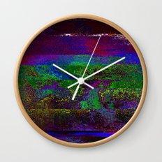 66-84-01 (Earth Night Glitch) Wall Clock