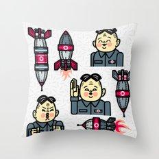 Kim Jong Un Rockets Throw Pillow
