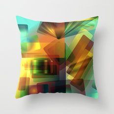 Alluvial Surf Throw Pillow