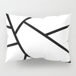 Black and White Fragments - Geometric Design I Pillow Sham