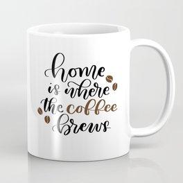 Home Is Where the Coffee Brews Coffee Mug